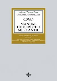 MANUAL DE DERECHO MERCANTIL VOL.I (2018)