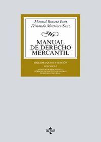 MANUAL DE DERECHO MERCANTIL VOL.II (2018)