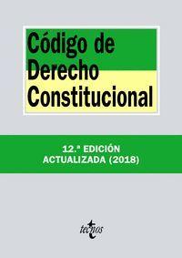CÓDIGO DE DERECHO CONSTITUCIONAL (2018)