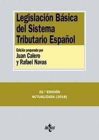 LEGISLACIÓN BÁSICA DEL SISTEMA TRIBUTARIO ESPAÑOL (2018)