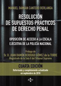 RESOLUCION DE SUPUESTOS PRÁCTICOS DE DERECHO PENAL