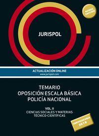 TEMARIO 2. ESCALA BÁSICA POLICÍA NACIONAL 2019
