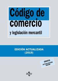 CÓDIGO DE COMERCIO Y LEGISLACIÓN MERCANTIL 2019