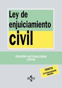LEY DE ENJUICIAMIENTO CIVIL 2019