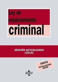 LEY DE ENJUICIAMIENTO CRIMINAL 2019