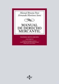 MANUAL DE DERECHO MERCANTIL VOL.II 2019