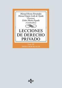 LECCIONES DE DERECHO PRIVADO TOMO III DERECHOS REALES