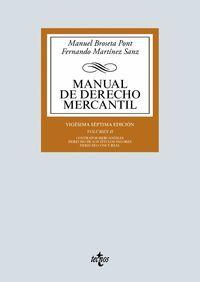 MANUAL DE DERECHO MERCANTIL VOL.II