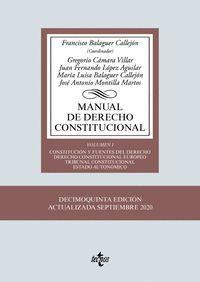 MANUAL DE DERECHO CONSTITUCIONAL VOL.1