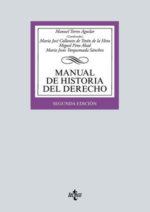 MANUAL DE HISTORIA DEL DERECHO 2 VOLS LIBRO + CUADERNO
