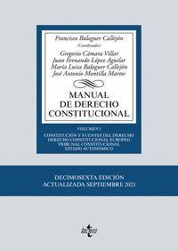 MANUAL DE DERECHO CONSTITUCIONAL VOL.I (2021)