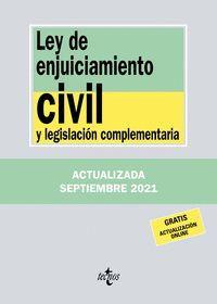 LEY DE ENJUICIAMIENTO CIVIL Y LEGISLACION COMPLEMENTARIA (2021)