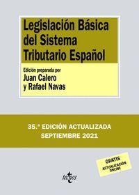 LEGISLACIÓN BÁSICA DEL SISTEMA TRIBUTARIO ESPAÑOL (2021)