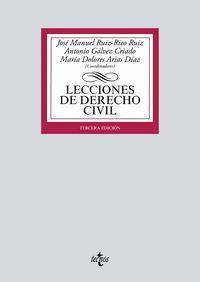 LECCIONES DE DERECHO CIVIL (2021) 3ªEDICION