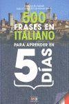 500 FRASES EN ITALIANO PARA APRENDER EN 5 DIAS