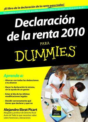 DECLARACIÓN DE LA RENTA 2010 PARA DUMMIES