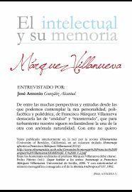 EL INTELECTUAL Y SU MEMORIA MARQUEZ VILLANUEVA