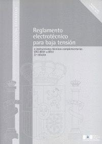 REGLAMENTO ELECTROTÉCNICO PARA BAJA TENSIÓN E INSTRUCCIONES TÉCNICAS COMPLEMENTA