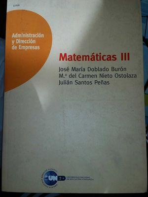 MATEMÁTICAS III