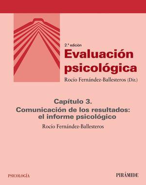 EVALUACIÓN PSICOLÓGICA (CAPÍTULO 3)