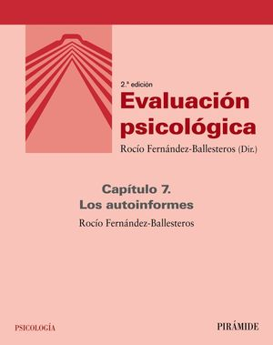 EVALUACIÓN PSICOLÓGICA (CAPÍTULO 7)
