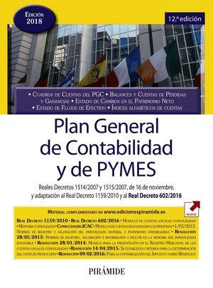 PLAN GENERAL DE CONTABILIDAD Y DE PYMES 2018