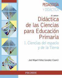 DIDÁCTICA DE LAS CIENCIAS PARA EDUCACIÓN PRIMARIA I