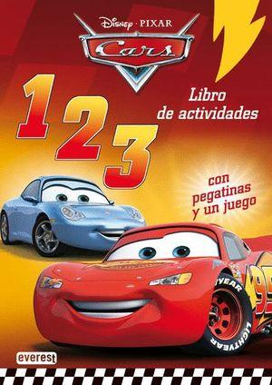 CARS. 123. LIBRO DE ACTIVIDADES CON PEGATINAS