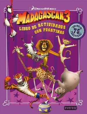 MADAGASCAR 3. LIBRO DE ACTIVIDADES CON PEGATINAS