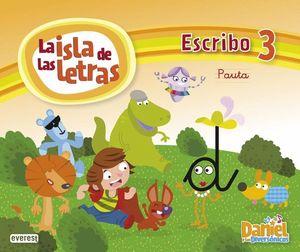 ISLA DE LAS LETRAS 3 ESCRIBO PAUTA DANIEL Y LOS DINISAURIOS