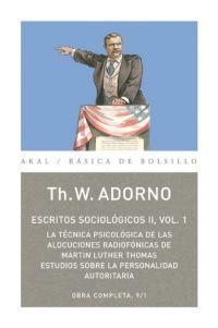 ESCRITOS SOCIOLOGICOS II, VOL. 1