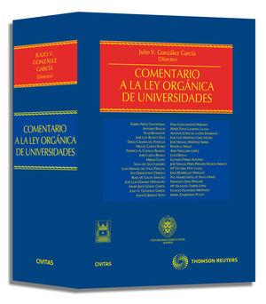 COMENTARIO A LA LEY ORGÁNICA DE UNIVERSIDADES
