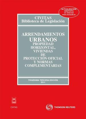 ARRENDAMIENTOS URBANOS, PROPIEDAD HORIZONTAL, VIVIENDAS DE PROTECCIÓN OFICIAL Y