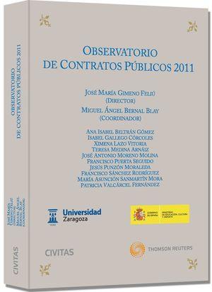 OBSERVATORIO DE CONTRATOS PÚBLICOS 2011