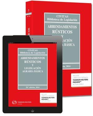 ARRENDAMIENTOS RUSTICOS Y LEGISLACION AGRARIA BASICA (2014)