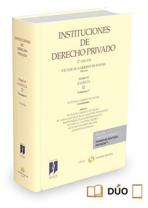 INSTITUCIONES DE DERECHO PRIVADO TOMO IV FAMILIA VOLUMEN 1º 2ªED.