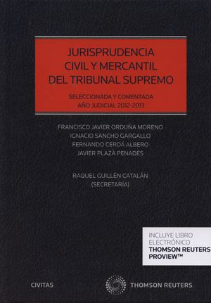 JURISPRUDENCIA CIVIL Y MERCANTIL DEL TRIBUNAL SUPREMO