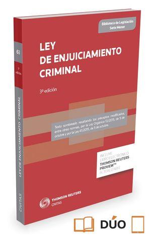 LEY DE ENJUICIAMIENTO CRIMINAL (3ª EDICION)