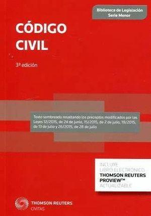 CODIGO CIVIL 2015 (3ª EDICION)