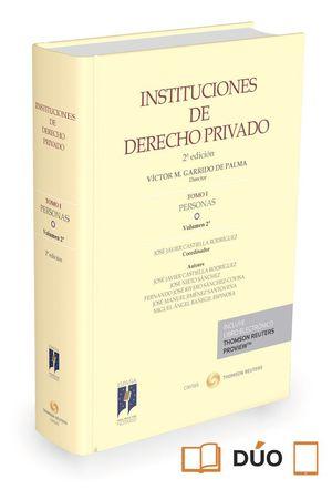 INSTITUCIONES DE DERECHO PRIVADO TOMO I PERSONAS VOL.2º 2015