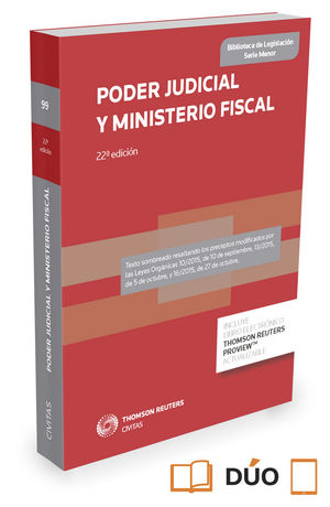 PODER JUDICIAL Y MINISTERIO FISCAL (PAPEL + E-BOOK)