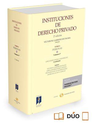 INSTITUCIONES DE DERECHO PRIVADO TOMO I PERSONAS (2ª EDICION)