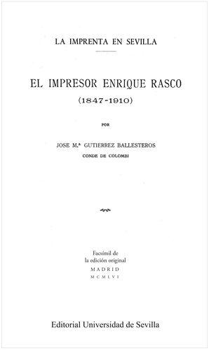 EL IMPRESOR ENRIQUE RASCO (1847-1910)