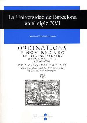 LA UNIVERSIDAD DE BARCELONA EN EL SIGLO XVI