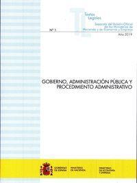 GOBIERNO, ADMINISTRACION PUBLICA Y PROCEDIMIENTO A