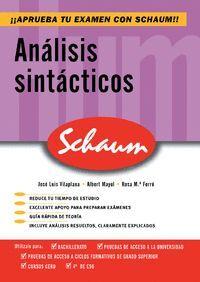 ANALISIS SINTACTICO -SCHAUM-