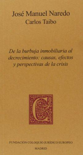DE LA BURBUJA INMOBILIARIA AL DECRECIMIENTO