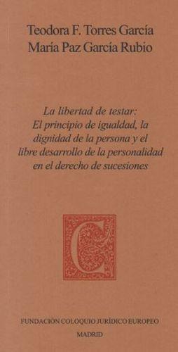 LA LIBERTAD DE TESTAR