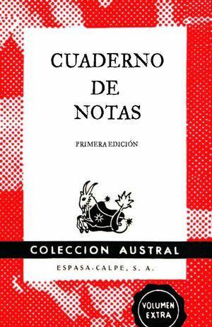 CUADERNO DE NOTAS ROJO 11,2X17,4CM