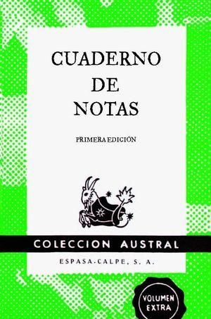 CUADERNO DE NOTAS VERDE 9X14CM